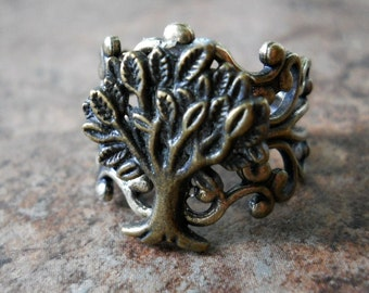 Tree of Life Ring in Brass EXCLUSIVE DESIGN