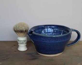Rustic Blue Wet Shaving Scuttle - UK