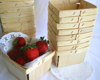 Wooden Berry Baskets