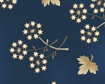 Sara Morgan for Blue Hill Fabrics, Old Glory 2, Dandelion Stars in Navy Blue 7629.1 - 1 Yard Clearance