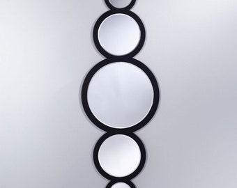 Miroir CIRCLE Modern Rectangulaire Noir 45x144 cm