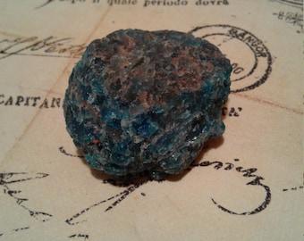Rough Blue Apatite Crystal