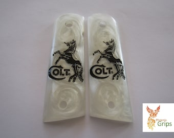 1911 Custom Made Pistol Grips - colt horse style- Also Grips Made To Order From New Resin