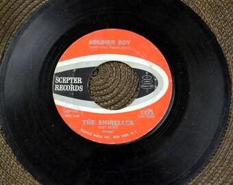 "The Shirelles  ""Soldier Boy"" 45 RPM Single Record 1960's Music 50's Rock"