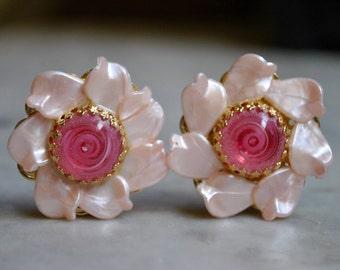 Grandes boucles d'oreilles Funky roses
