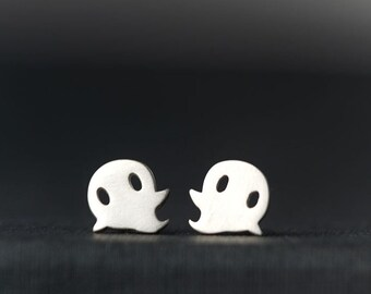 Ghost Studs Halloween Cute Kids Gift Teen Jewelry Sterling Silver Teen Cute Sweet Tiny Ghost jewelry kids gift Birthday gift earrings