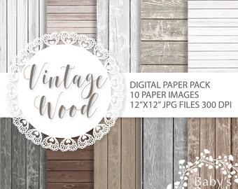 Wood digital paper, scrapbooking paper, digital background, digital paper, Instant Download