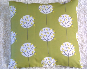Olive Green Cushion Cover in Moonlight Tree fabric pillow sham throw