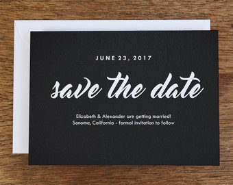 Printable Save the Date Card - Save the Date Template - Instant Download - Save the Date PDF -  Retro Chalkboard Save the Date Card