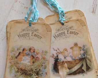 Gift Tags Happy Easter Tags Bunny Tags Chick Tags Easter Egg Tags Easter Basket Tags Set of 9