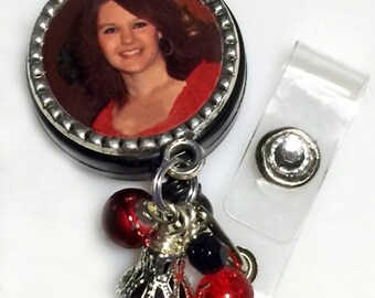 Photo Badge Holder Customized Id Badge Reel Retractable Id Holder Gift for LPN RN Gift Nursing Student Medical Assistant