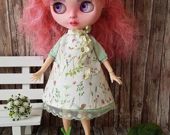 Blythe  dress set romantic, spring.