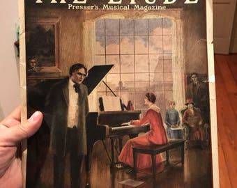 1921 The Etude Pressers Musical Magazine . Vintage music magazine . Antique music magazine . Vintage advertising . Antique advertising