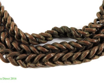 Necklace Copper Braided Chain Africa 35 Inch 108796
