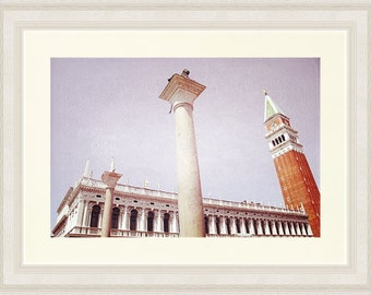 Venice Photography, Piazza San Marco, St Mark's Square, Venice Italy Art, Architecture Print, Beige, Lavender