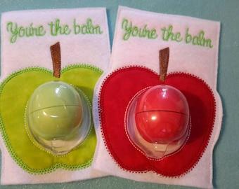 Apple EOS Lip Balm Holder teacher appeciation gift You're the balm