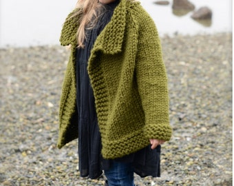 KNITTING PATTERN-The Taruyn Sweater (2, 3/4, 5/7, 8/10, 11/13, 14/16, S, M, L sizes)