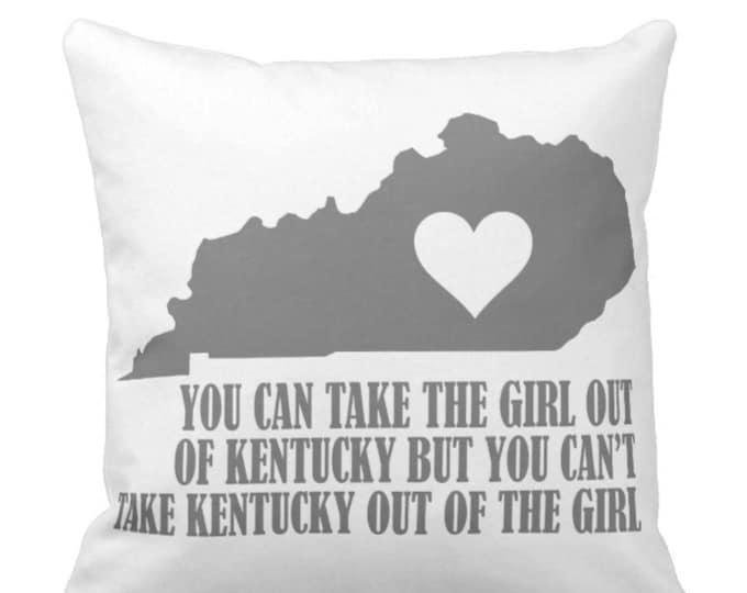 Throw Pillow Kentucky Girl
