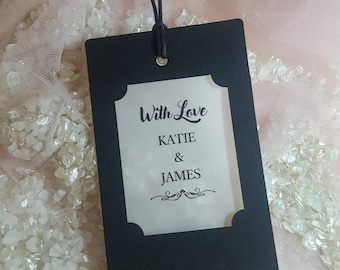 Wedding Favour Tags, in three colours