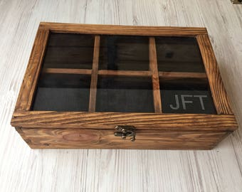 Personalised gift for him Wood watch box for 6 watches watch box Watch Case  Watch Box