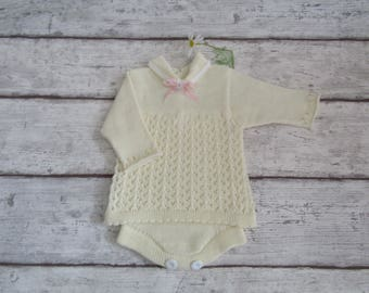 Baby Girl romper - Babies Knitwear - 0-3 months Baby Clothes - Baby Girl - one piece