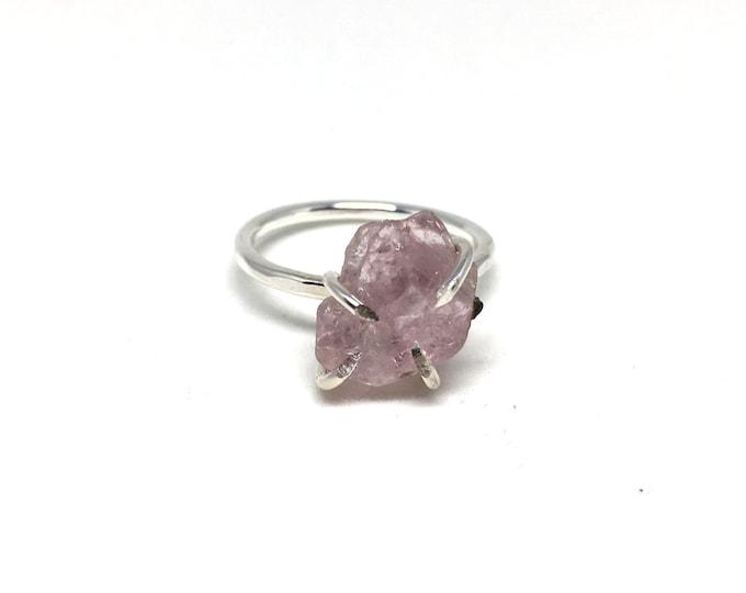 Catalina Ring - Morganite / California Collection // raw morganite ring, sterling silver, boho jewelry, raw gemstone ring, crystal ring