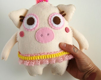 Piggly Ballerina Plush / Eco Friendly Stuffed Toy