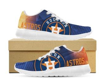 Houston Astros Custom Printed Sneakers Womens Mens and Kids (version 2)