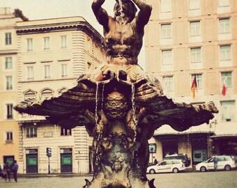 Rome photo, Italy artwork, fine art photography, travel photograph, Italian fountain, vintage, dreamy decor - Rome's Gems