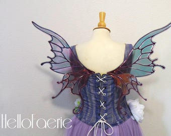 Small Black Willow Wings Fantasy Fairy Wings