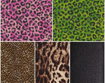 Animal Skins Cheetah & Leopard Cotton Fabric!! [Choose Your Cut Size]