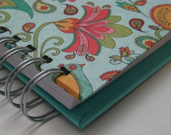 Daily Gratitude - Mini Journal - Gratitude Journal - Pocket Size - Grateful Journal - Thankful Journal - Year Journal - Turquoise Paisley