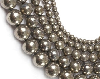 Round Pearl pyrite 10mm x 5