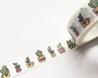 Cactus Cacti Washi Tape 15mm x 10m