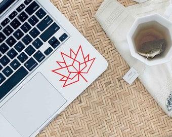 Geometric Maple Leaf Decal