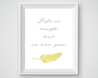 Motivational Art, Motivational Wall Decor, Feather Decor, Feather Art, Inspirational Decor, Inspirational Wall Decor, Inspirational Art