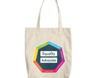 Equality Advocate: Intersectional Social Justice Cotton Tote Bag