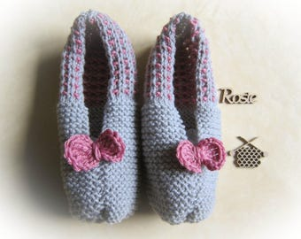 Apartment Bicolores gray pink slippers