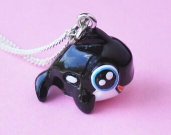Cute Orca Whale Necklace  (R3C)
