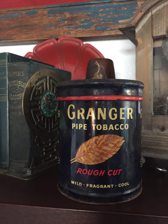 Vintage Tabak Zinn Granger Tabak Dose Kanister Lagerung