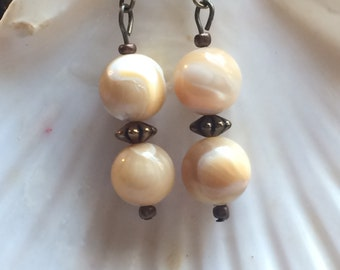 Natural Mother of Pearl Earrings