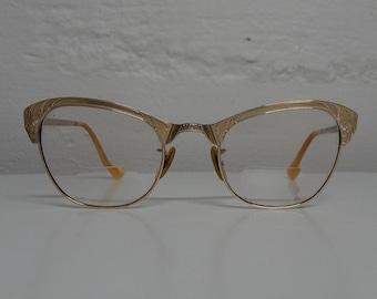 Vintage 12K Gold Filled Cat Eye Eyeglasses - FREE SHIPPING