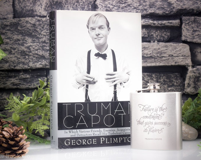 SALE- 25% OFF - Hollow Book Safe and Hip Flask - Truman Capote