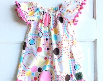 Boho baby dress-Baby girl  dress- baby peasant dress- boho baby outfit- summer dress for baby- size 6-12 month baby dress- toddler dress-