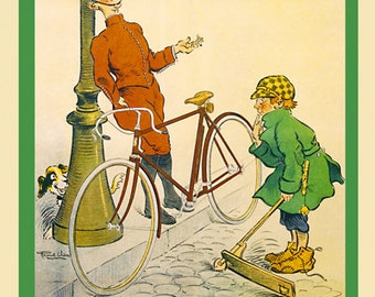 The Kid Bicycle Poster (#1316) 6 sizes