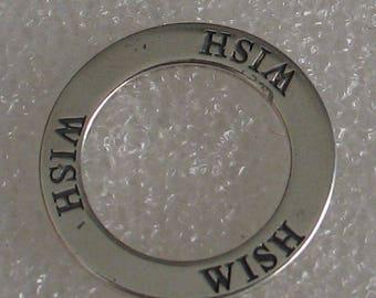 Vintage Wish Charm 20mm Sterling