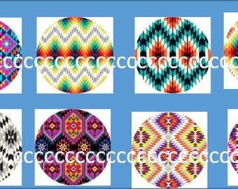 8 cabochons Glas 20 mm Indian theme fabrics