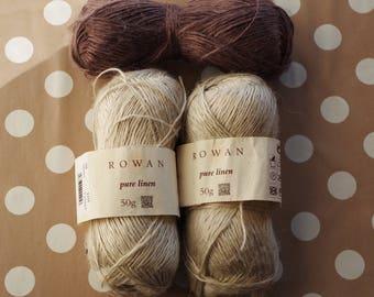Pure linen 4.5 Rowan yarn