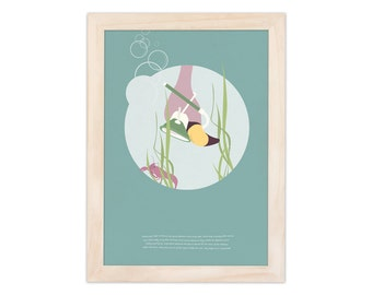 Art print - flamingo   children - nursery   A4 - 8.27 x 11.69 inches