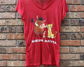 Vintage Lion King Disney Hukuna Matata Women's Sz. Large T-Shirt